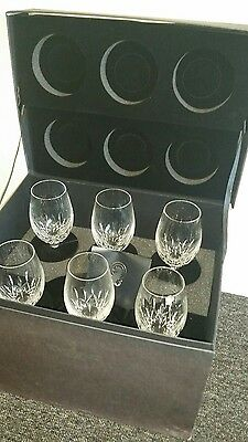 6 Lismore essence waterford crystal wine glasses boxed