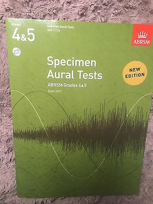 AURAL TRAINING IN PRACTICE Grades 4&5 with 2 CDs ABRSM music book