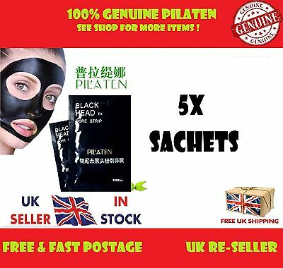 5X Pilaten Blackhead Remover Clean Peel Acne Black Face Mask Pore Cleansing