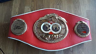 High quality hand signed IBF Full size belt by boxing legend Manny Pacquiao