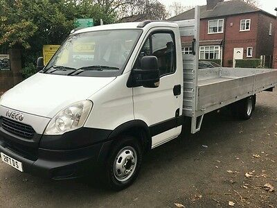 2012 (62)  Iveco Daily 35C13 Xlwb Flat Bed 21 Ft Drop Side Rare Auto