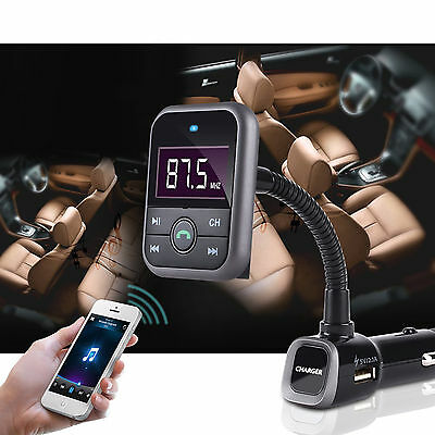 4 In 1 Wireless Bluetooth FM Transmitter MP3 SD USB Mobile Phone Charger Car Kit
