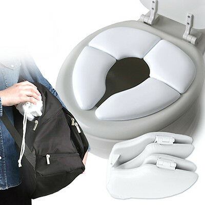 Baby Toddler Potty Cushion Traveller Padded Toilet Training Folding Seat
