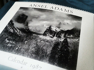 vintage Ansell Adams calendar 1987, photography prints for framing, black and wh