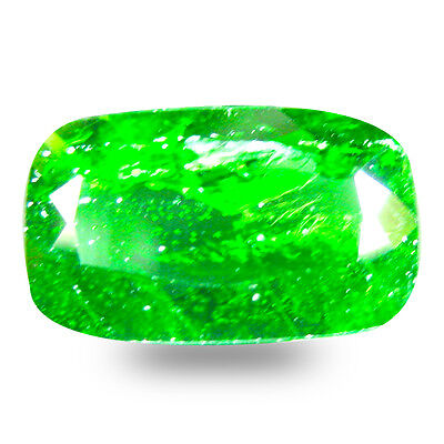 6.21 ct  Valuable Cushion Shape (15 x 9 mm) Green Chrome Diopside Gemstone