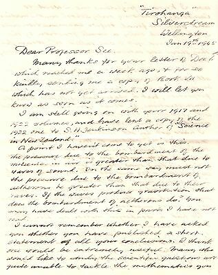 Letter from Gifford to See, 1945 (Aetheron, Fringe Science, Meteor eyewitness)