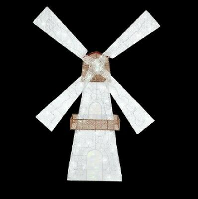 Home Accents Holiday 72 in. LED Lighted Twinkling Windmill NIB