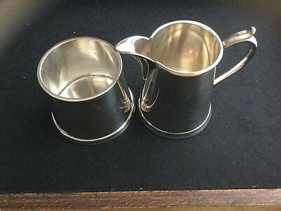 Stamped Silver Plate Milk & Sugar Containers.