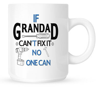 If Grandad Can't Fix It Mug Birthday Christmas Fathers Day Gift Present