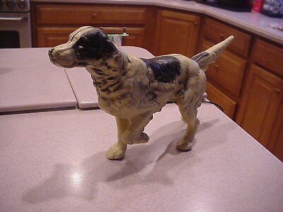 Antique-Vtg CAST IRON HUBLEY POINTER BIRD DOG Doorstop Figurine - spaniel setter