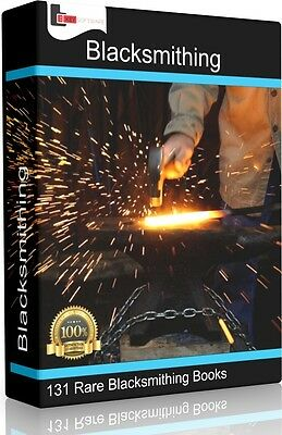 Learn Blacksmithing & Metal Work at home 131 Books On DVD Forge Cast Iron Anvil
