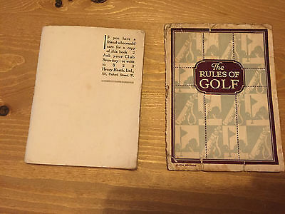 vintage golf pamplet and golf rules book - date 1924- highly collectable