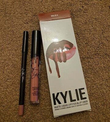 KYLIE JENNER LIQUID LIPSTICK & LIP LINER KIT (DOLCE K) New and Boxed Free P&P