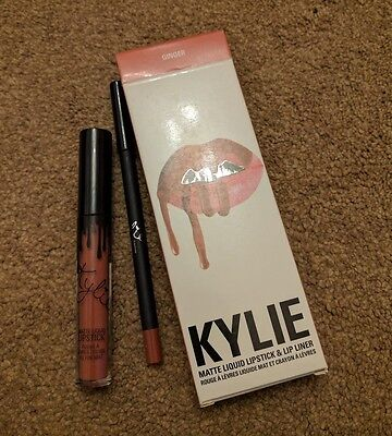 KYLIE JENNER LIQUID LIPSTICK & LIP LINER KIT (GINGER ) New and Boxed Free P&P