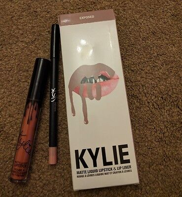 KYLIE JENNER LIQUID LIPSTICK & LIP LINER KIT (EXPOSED) New and Boxed Free P&P