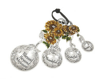 Ganz Sunflower Blessed Beyond Measure Measuring Spoons  ~ **FREE SHIPPING**