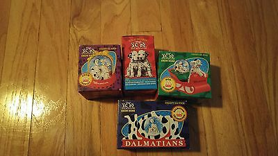 Set of 4 McDonald's 101 Dalmation Snow Domes/Brand New in Box/1996