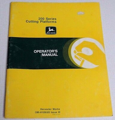 Vintage John Deere 200 Series Cutting Platforms Operators Manual Om-H109005 10