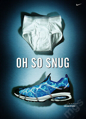 Nike Air Kukini Shoes print ad May 2000 Underwear Tightie Whities - Oh So Snug