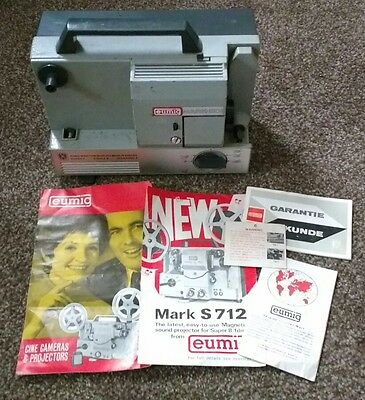 Eumig Mark-501 Super Single Standard 8 Eight Projector Vintage Cine Film Movie