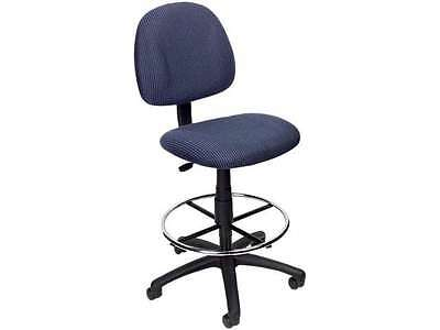 Hgt Adj Drafting Stool with Footring Color/Fabric: Blue Twill, Arms:Not Included