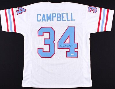 Earl Campbell Signed Houston Oilers Jersey With COA
