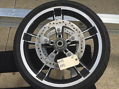 """Harley-Davidson 2008-2017 19"""" Enforcer Front Wheel, Tire, Rotors with ABS   #55"""