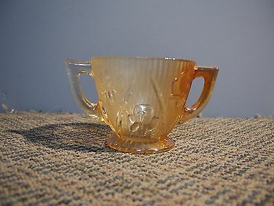Vintage Depression Glass Sugar Bowl