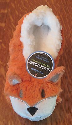 Fox Fur Animal Snoozies Bed Lounge Slippers Women Size Medium 7-8 New