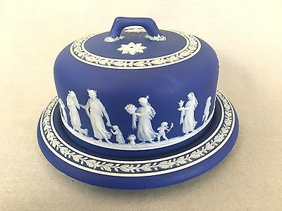 Early 19th Century Wedgwood Cobalt Blue Dip Cheese Dome Dish Bell
