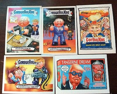 Garbage Pail Kids Disg Race To The White House Lot of 8