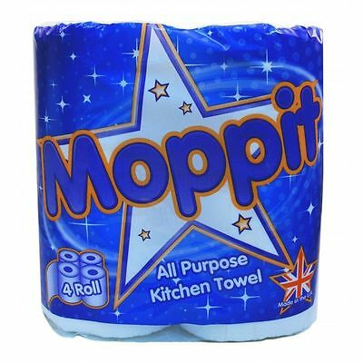 24 X Moppit Kitchen Rolls White 2 Ply Towel All Purpose Embossed Home 0982
