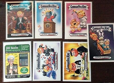 Garbage Pail Kids Disg Race To The White House Lot of 7
