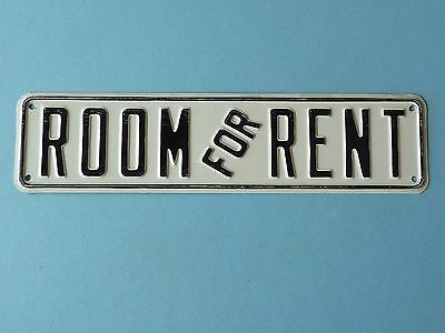 Vintage Embossed Metal / Tin Room For Rent Sign