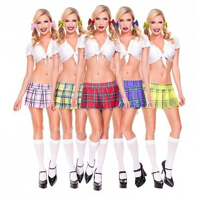 Plaid Pleated Mini Skirt Adult Womens