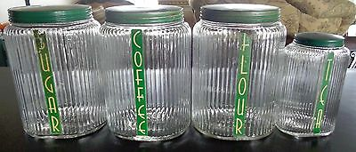 Vintage Owens Canisters set of 4 Green