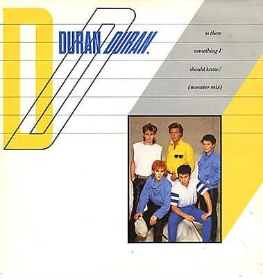"""Duran Duran Is There Something I Should ... UK 12""""  record (Maxi)"""