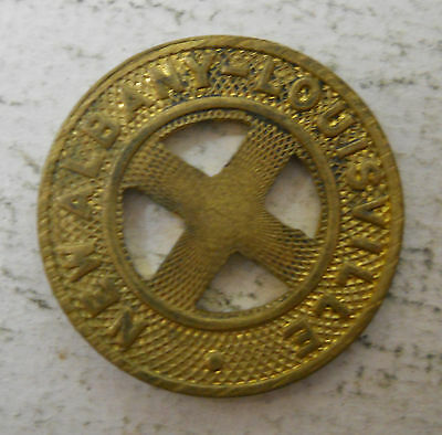 New Albany-Louisville (Indiana) transit token - IN680E