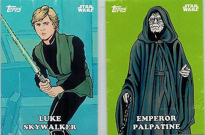 STAR WARS Card Trader Physical Cards: Lot of 5 Classic Artwork #CA-2-4-7-9-13
