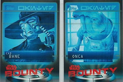 STAR WARS Card Trader Physical Cards: Lot of 5 Bounty Cards #B-4-7-9-13-14
