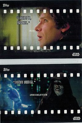 STAR WARS Card Trader Physical Cards: Lot of 6 Film Quotes, FQ-2-4-7-9-13-14