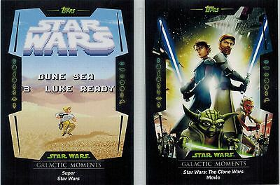 STAR WARS Card Trader Physical Cards: Lot of 5 Galactic Moments, GM-1-6-11-17-20