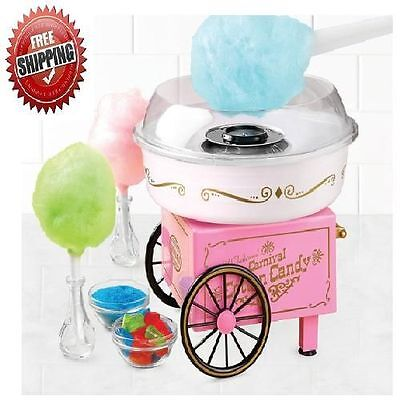 NEW Electric Commercial Cotton Candy Maker Vintage Machine Cart Kit Store Booth