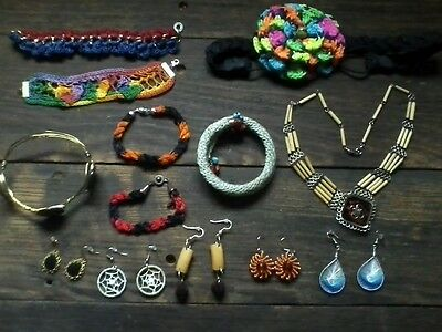 Handmade Peruvian Jewelry Collection - 13 Pieces