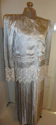 JESSICA McCLINTOCK mother of the bride Sz 4 wedding 2 pc dress victorian lace
