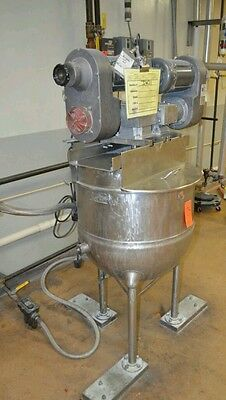 GROEN 40-gallon Jacketed KETTLE Agitator Homogenizer commercial mixing kettle