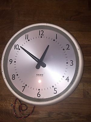 Vintage 1960s retro GENT of Leicester Industrial Electric Wall Clock