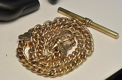 Beautiful Antique heavy Gold filled Pocket Watch chain/ fob/14.5inch