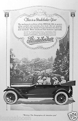 1920 Studebaker Special Six Car Ad, 5 Ladies In The Car