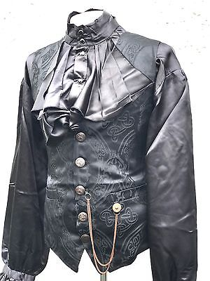 Raven Romantic Gothic 2 Pcs Men's Outfit Waistcoat & Shirt  In Chest Size 42 L